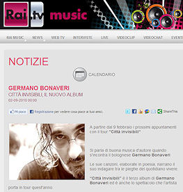 Germano Bonaveri su RAI tv Music